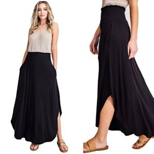 High Rise Maxi Skirt